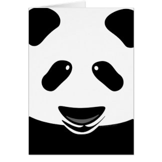 Panda Bear Modern Thank You Custom Card