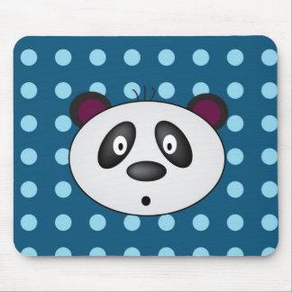Panda Bear Mousepad blue