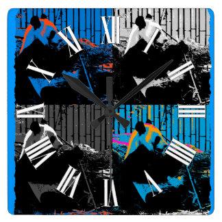 Panda Bear Multi-panel Modern Art Design Square Wall Clock