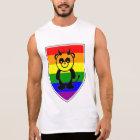 Panda Bear on The Rainbow Flag - Shirt