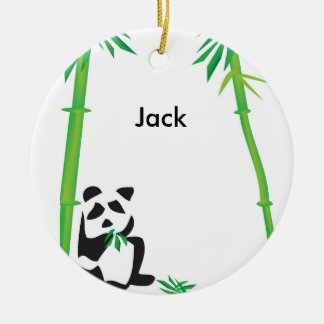 Panda Bear ornament! Round Ceramic Decoration