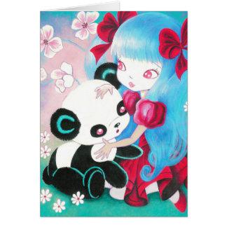 Panda Bear Paradise Greeting Card