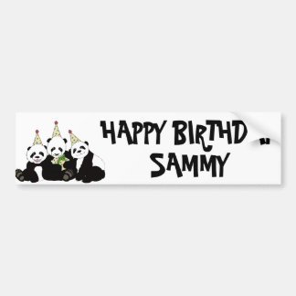 Panda Bear Party by Kindred Design Bumper Sticker