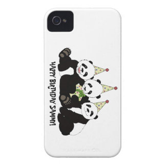 Panda Bear Party by Kindred Design iPhone 4 Covers