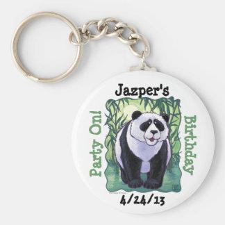 Panda Bear Party Center Basic Round Button Key Ring