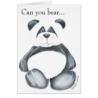 Panda Bear Picture Greeting Card