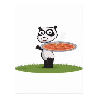 Panda Bear Pizza Postcard