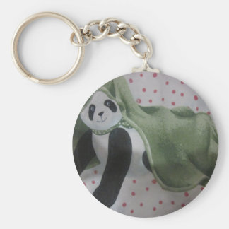 panda bear products basic round button key ring