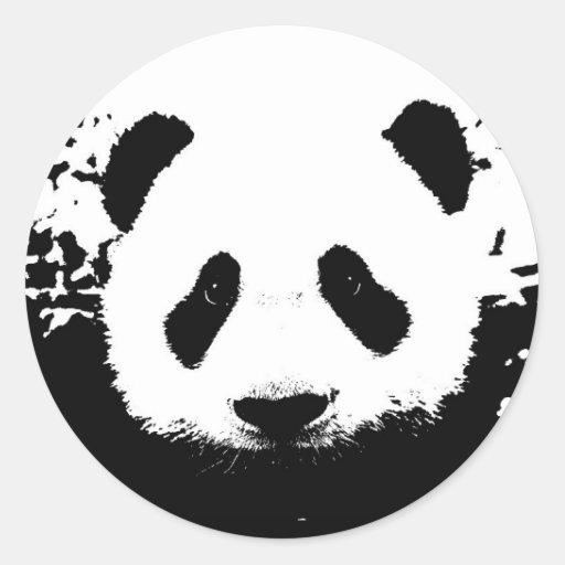 Panda Bear Round Sticker