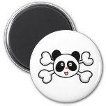 panda bear Skull and Crossbones Magnet