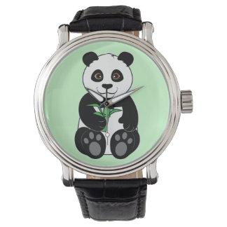 Panda Bear Snacking on Bamboo Watches