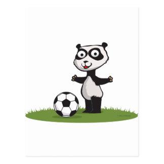 Panda Bear Soccer Postcard