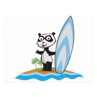 Panda Bear Surfer Postcard