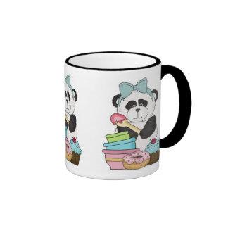 Panda Bear Sweet Treats Ringer Mug