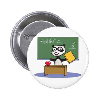 Panda Bear Teacher 6 Cm Round Badge