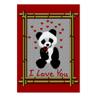 Panda Bear Valentine Large Business Cards (Pack Of 100)