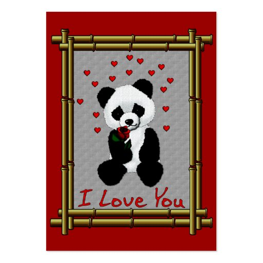 Panda Bear Valentine Business Cards