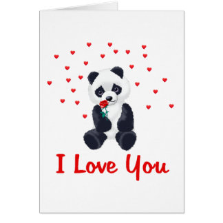 Panda Bear Valentine Card