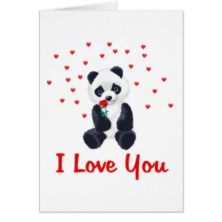 Panda Bear Valentine Greeting Card