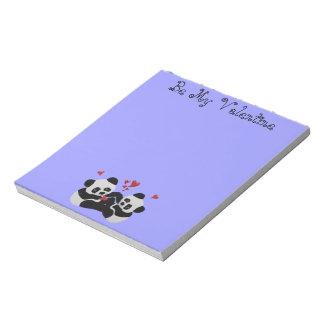 Panda Bear Valentine Notepads