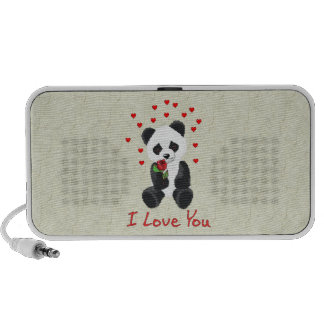 Panda Bear Valentine iPod Speaker