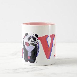 Panda Bear Valentine's Day Two-Tone Coffee Mug