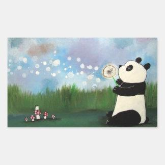 Panda Bear Wish Flower Mouse Cute Woodland Sticker
