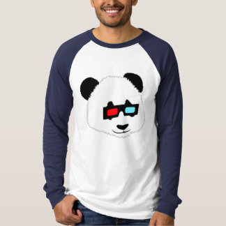 Panda Bear with 3D Glasses T-Shirt