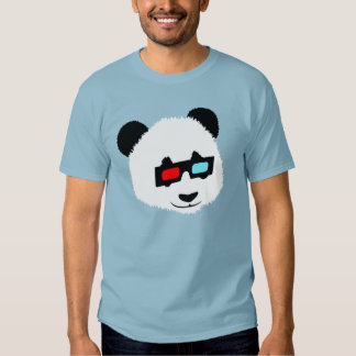 Panda Bear with 3D Glasses T Shirts