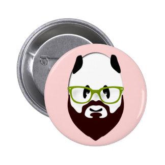 Panda Bear with a Beard 6 Cm Round Badge