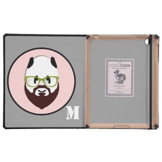Panda Bear with a Beard iPad Folio Case