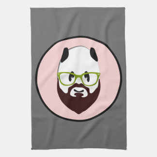 Panda Bear with a Beard Tea Towel