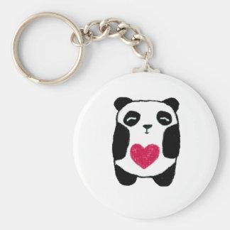 Panda Bear with a heart keychain