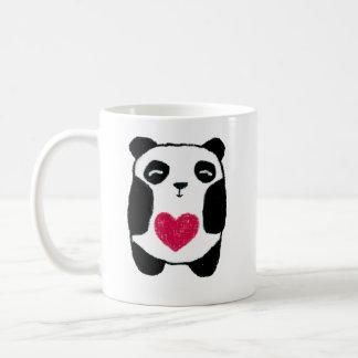 Panda Bear with a heart mug