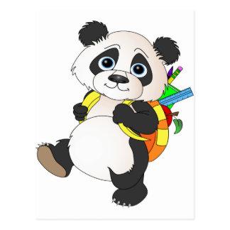 Panda Bear with backpack Postcard
