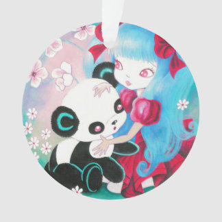 Panda Bear with Kawaii Girl