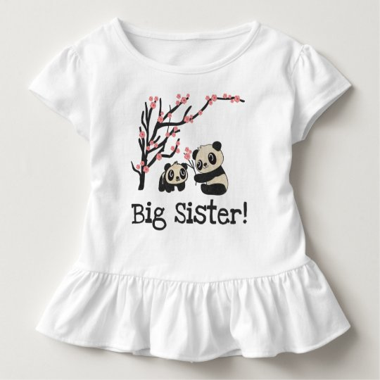 Panda Bears Big Sister Toddler T-Shirt