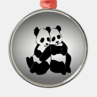 Panda Bears Christmas Ornament