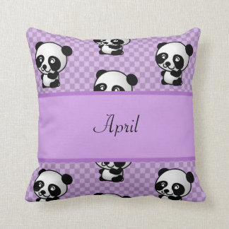 Panda Bears Cushion