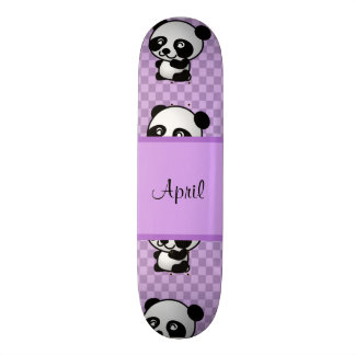 Panda Bears Custom Skateboard
