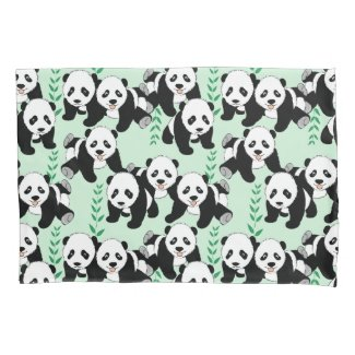 Panda Bears Design Pillowcase
