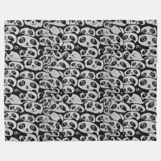 Panda Bears Fleece Blanket