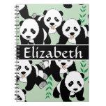 Panda Bears Graphic Pattern to Personalise Notebook
