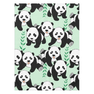 Panda Bears Graphic Pattern to Personalize Tablecloth