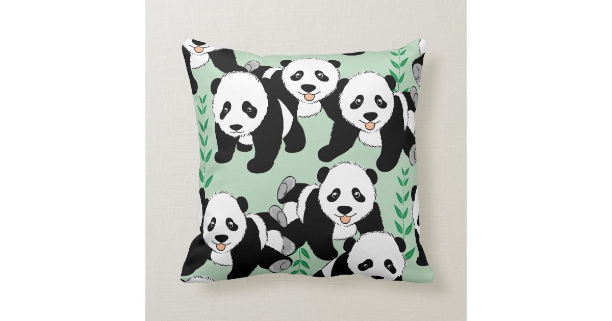 Panda Bears Graphic Throw Pillow Zazzle