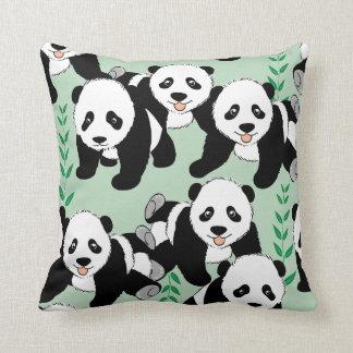 Panda Bears Graphic Throw Pillow