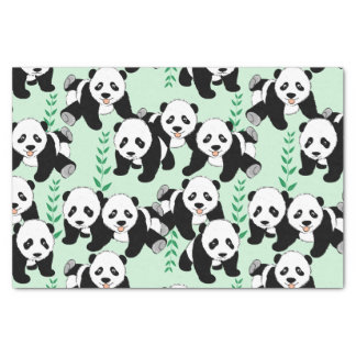 Panda Bears Graphic Tissue Paper