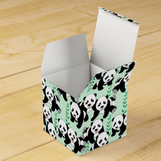 Panda Bears Graphic Wedding Favour Box