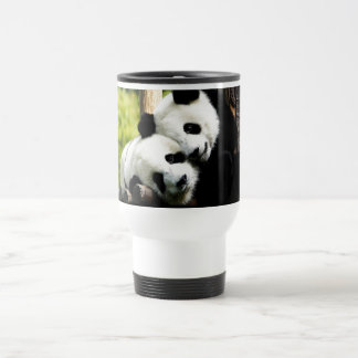 Panda Bears Stainless Steel Travel Mug