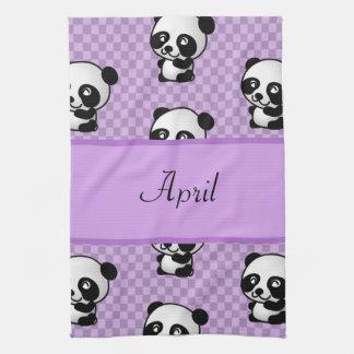 Panda Bears Tea Towel